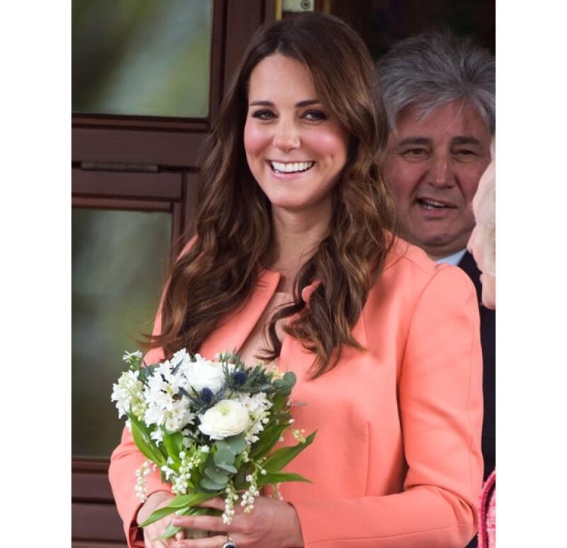 Los puntos fuertes de Kate: natural y sonriente.