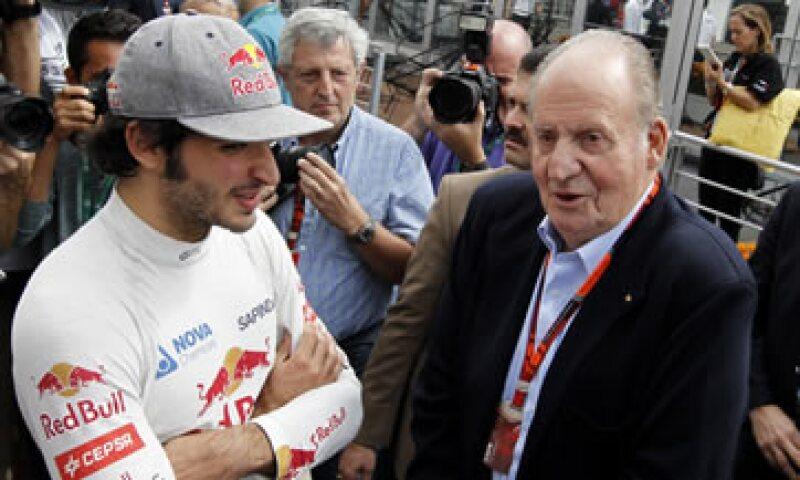 Juan Carlos I estuvo en la primera sesión de prácticas del Gran Premio de México. (Foto: EFE)