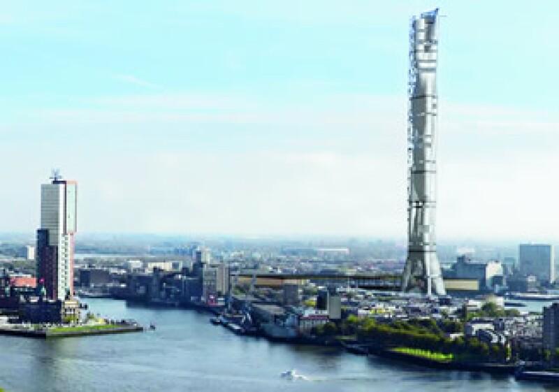 Con sus 450 m de altura La Rotterdam Tower serán uno de los edificios más altos de la ciudad. (Foto: Cortesía Monolab)