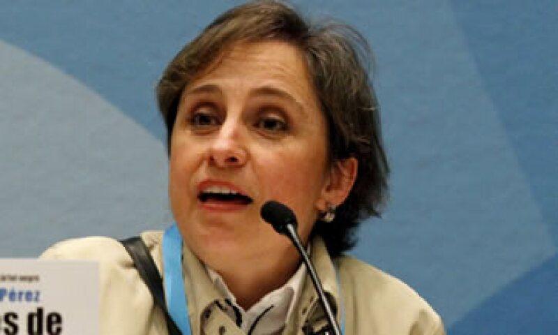 En marzo pasado, la empresa MVS terminó la relación laboral con Carmen Aristegui. (Foto: Notimex )