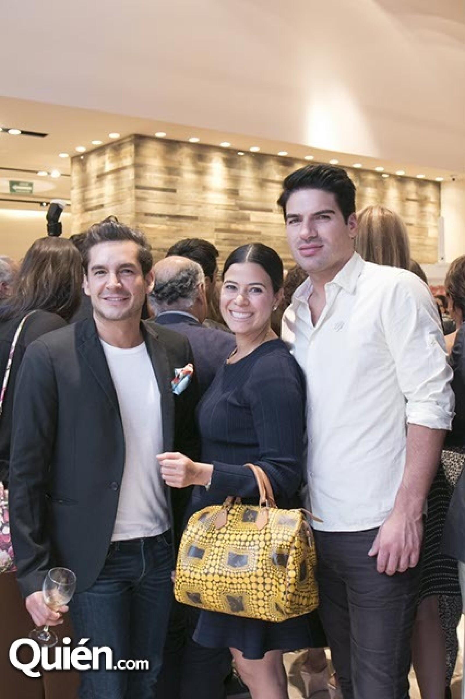 Juan Pablo Muñoz,María Galvis y Santiago Fuster