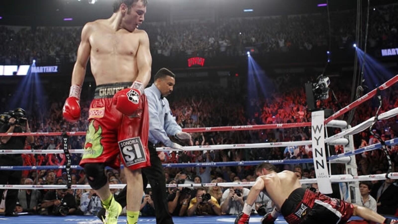 Combate entre Julio Cesar Chavez y Sergio Martínez