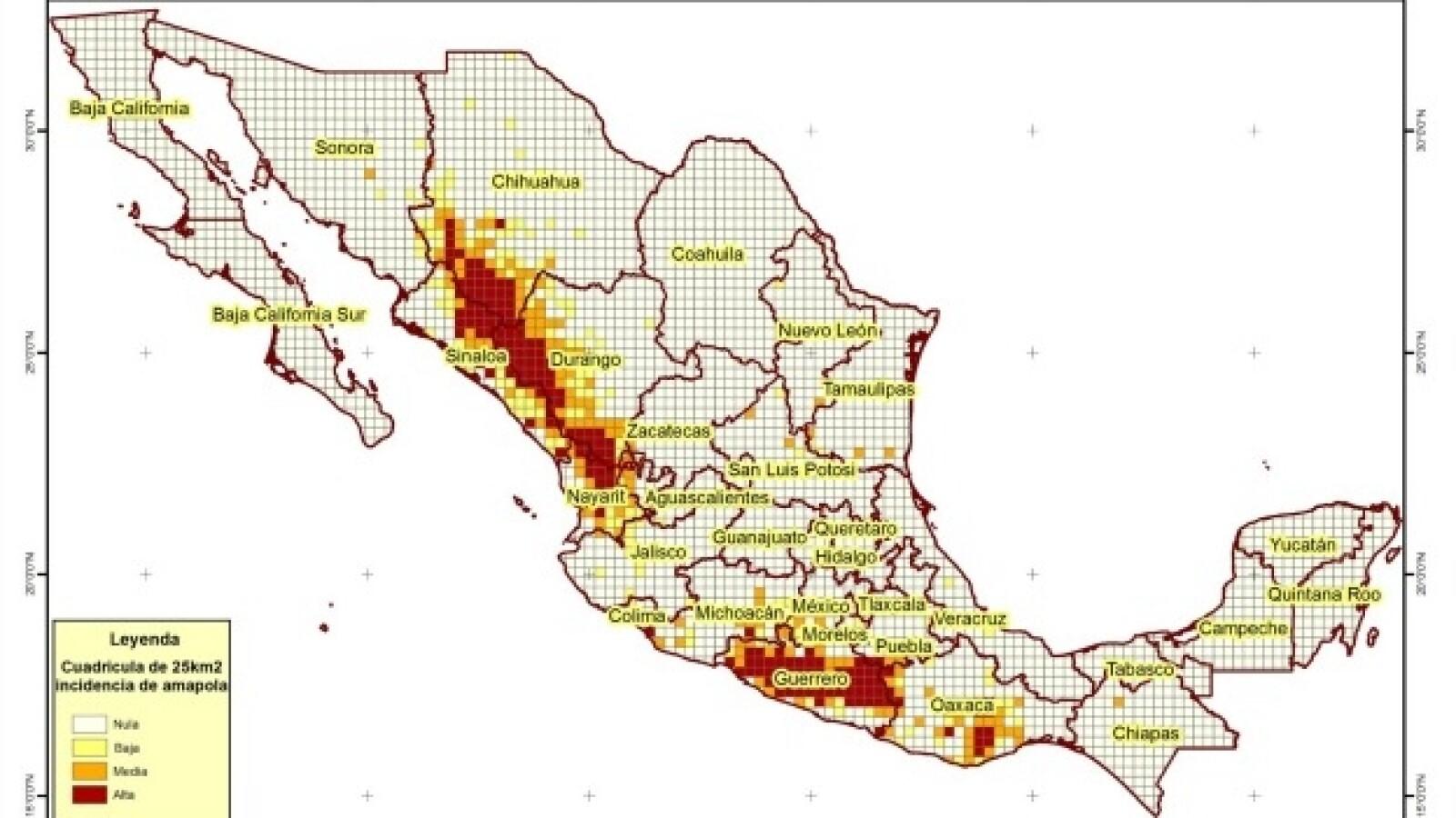 mapa amapola
