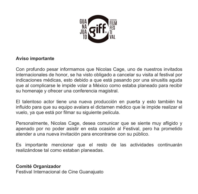 Comunicado GIFF