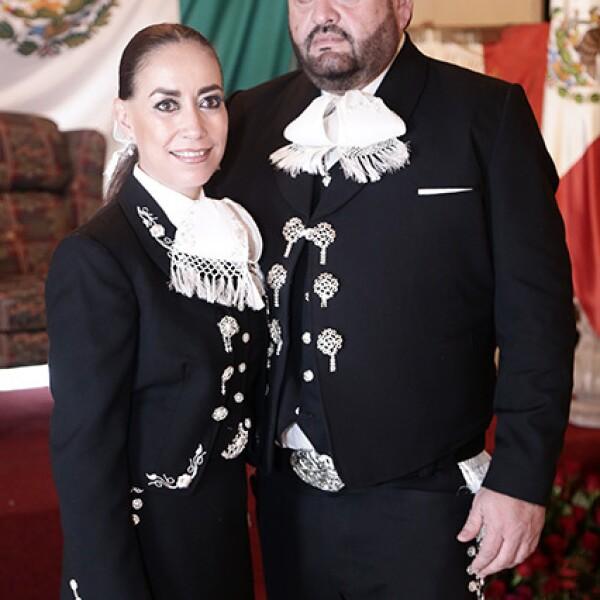 Magy Camacho y René Riaño