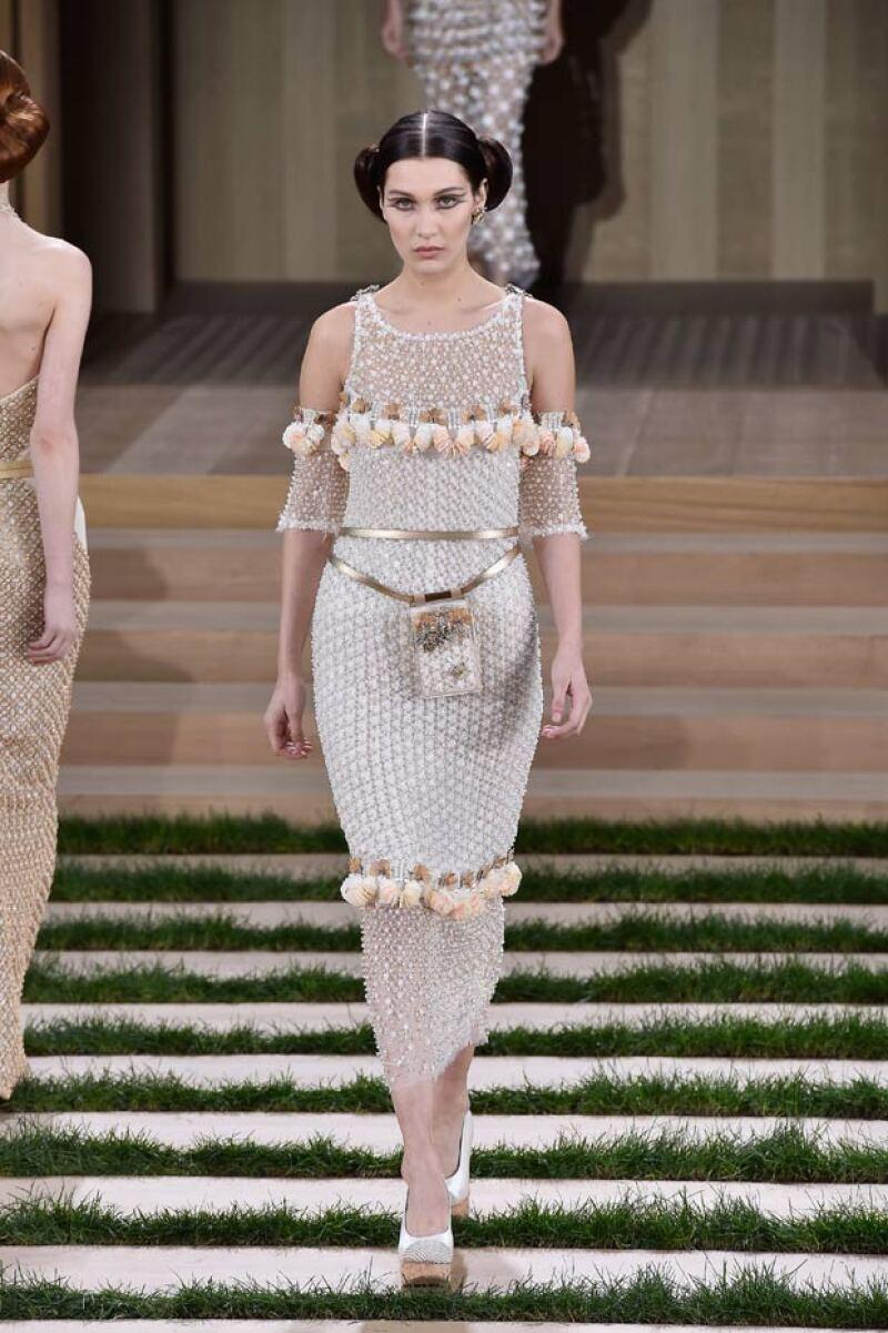 Gigi y Bella Hadid estuvieron también presentes en el desfile de Chanel.