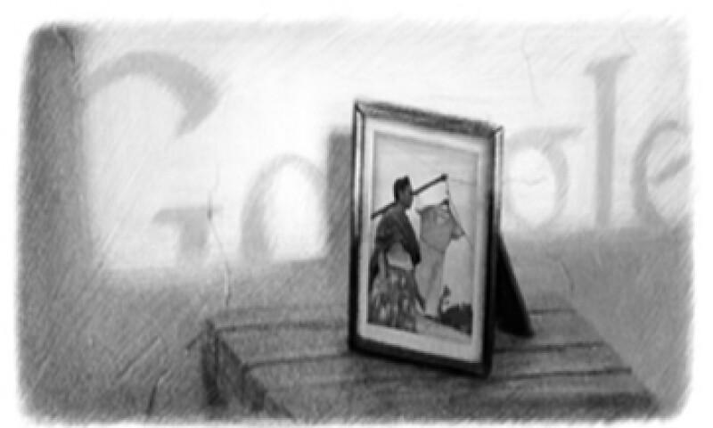 El doodle de Google muestra a la pintora Frida Kahlo en una azotea. (Foto tomada de Google.com)