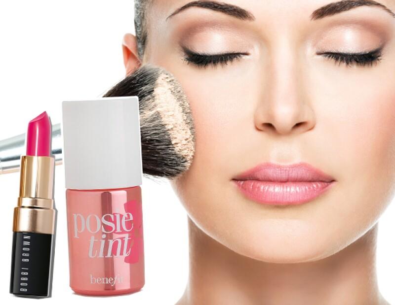 Opta por maquillaje que puedas usar en más de una parte de la cara.