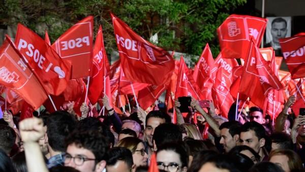 El PSOE gana en España.