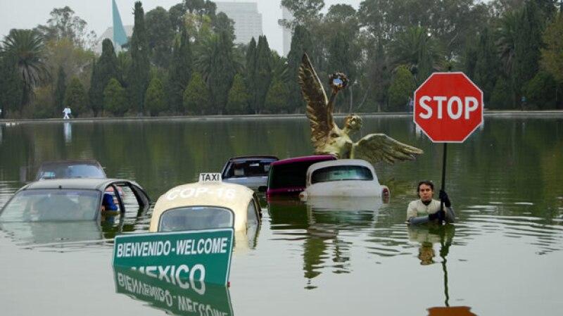 Greenpeace ha protestado por la falta de acciones contra el cambio climático