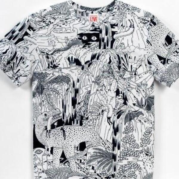 Lacoste invitó al ilustrador estadounidense Micah Lidberg para colaborar en una colección de ropa, bolsos y calzado, para ambos sexos.