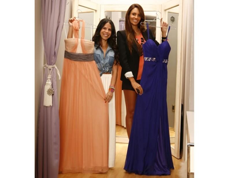 Para una boda de etiqueta es básico usar vestidos largos con bordados.