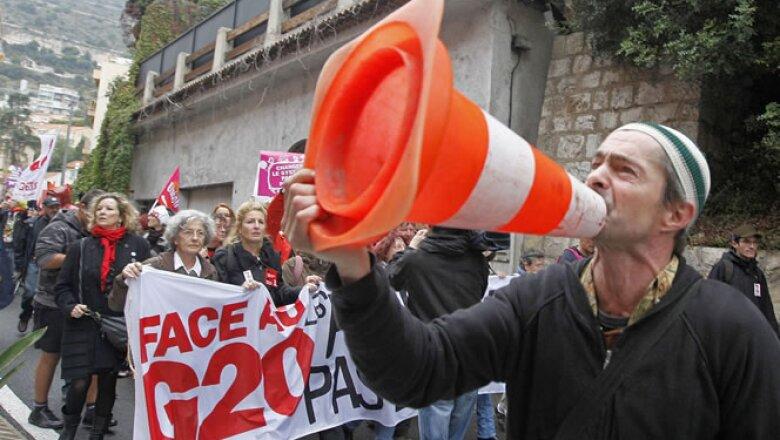 Los activistas también piden el fin de los paraísos fiscales