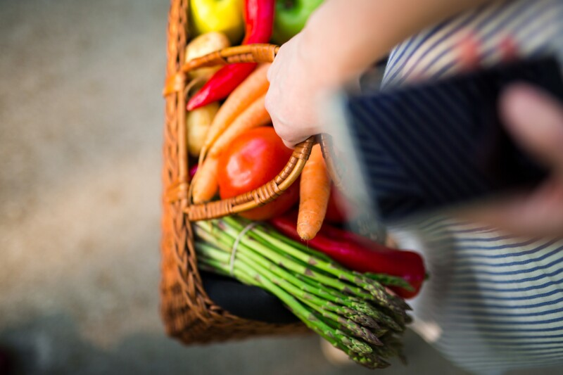vegetales compras alimentos supermercado telefono e-commerce