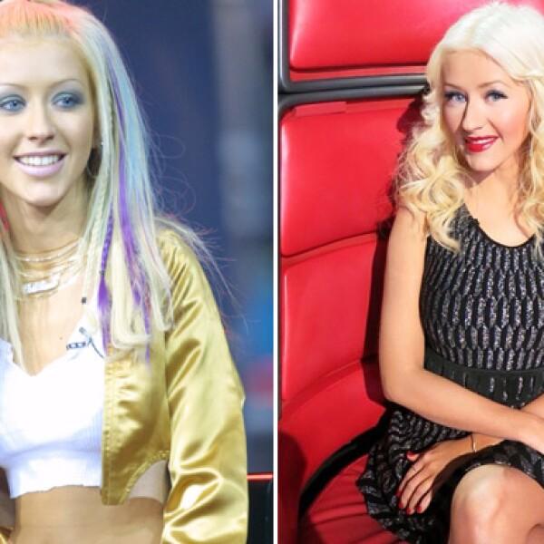 Cristina Aguilera en los 90s y antes de convertirse en madre.
