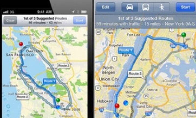 La aplicación de Google Maps podrá descargarse gratis en el nuevo iPhone, pero ahora incluirá publicidad.  (Foto: Cortesía Fortune)