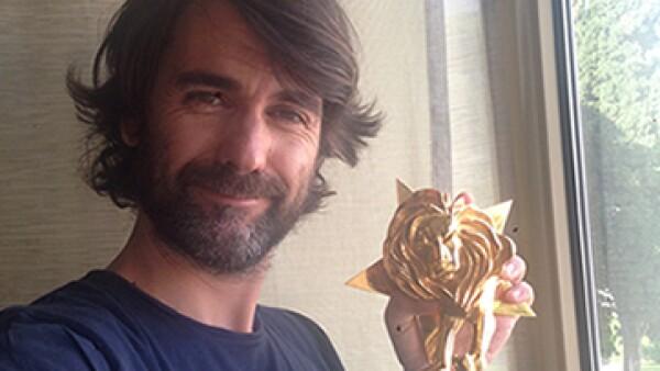 El Vicepresidente Creativo de JWT México, Andrés Martínez, fue uno de los galardonados en el Festival de Cannes Lions.   (Foto: Andrés Martínez)
