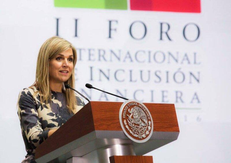 Como asesora especial de la Secretaría General de Finanzas y Desarrollo de las Naciones Unidas, la reina visitó por cuarta vez nuestro país para el 2º Foro de la Inclusión Financiera.