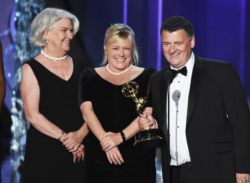 Rebecca Eaton, Sue Vertue y Steven Moffat, por mejor película de TV, Sherlock: The Abominable Bride.