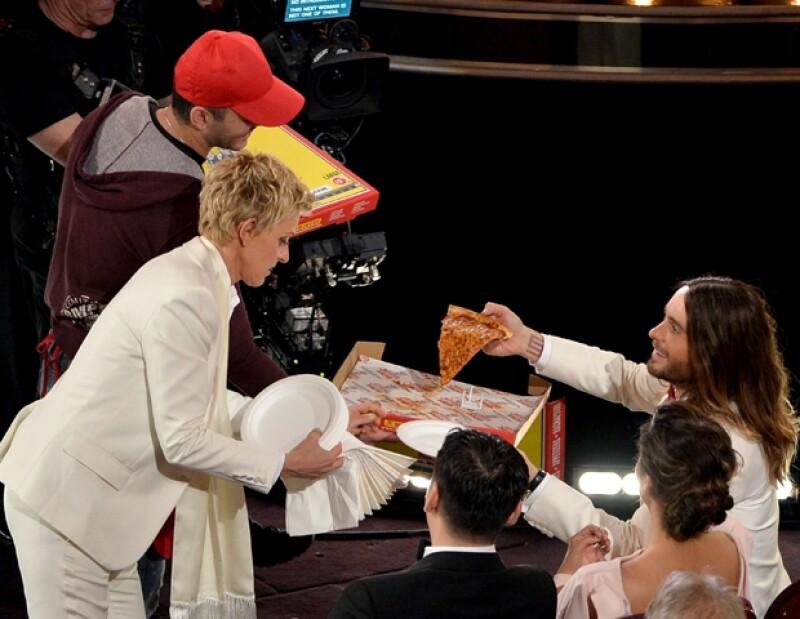 Ellen DeGeneres y Jared Leto.
