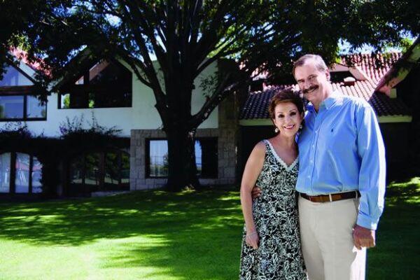 Marta Sahagún y Vicente Fox posaron para la revista Quién en septiembre de 2007.