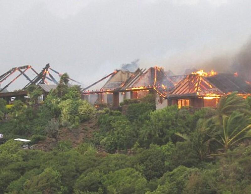 La mansión de Richard Branson se incendió y entre los huéspedes estaba la actriz Kate Winslet.
