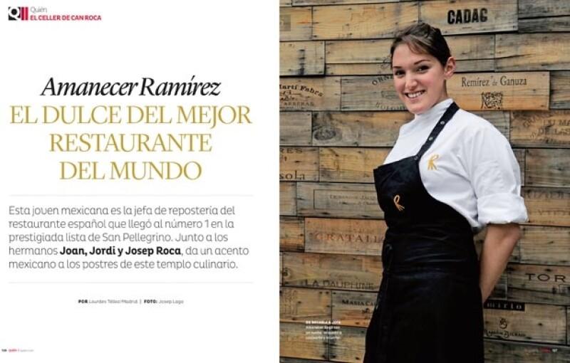 Amanecer Ramírez en el mejor restaurante del mundo.