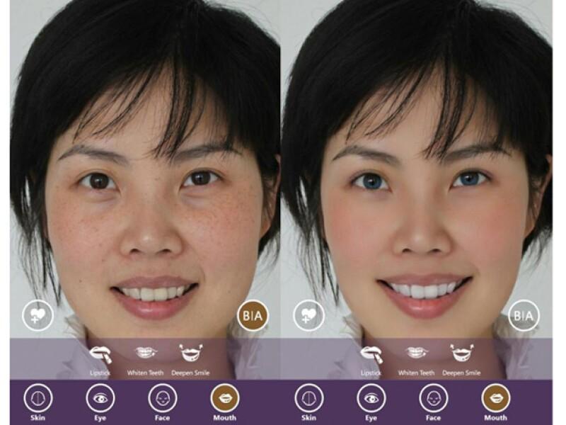 La app te da opción de maquillaje.