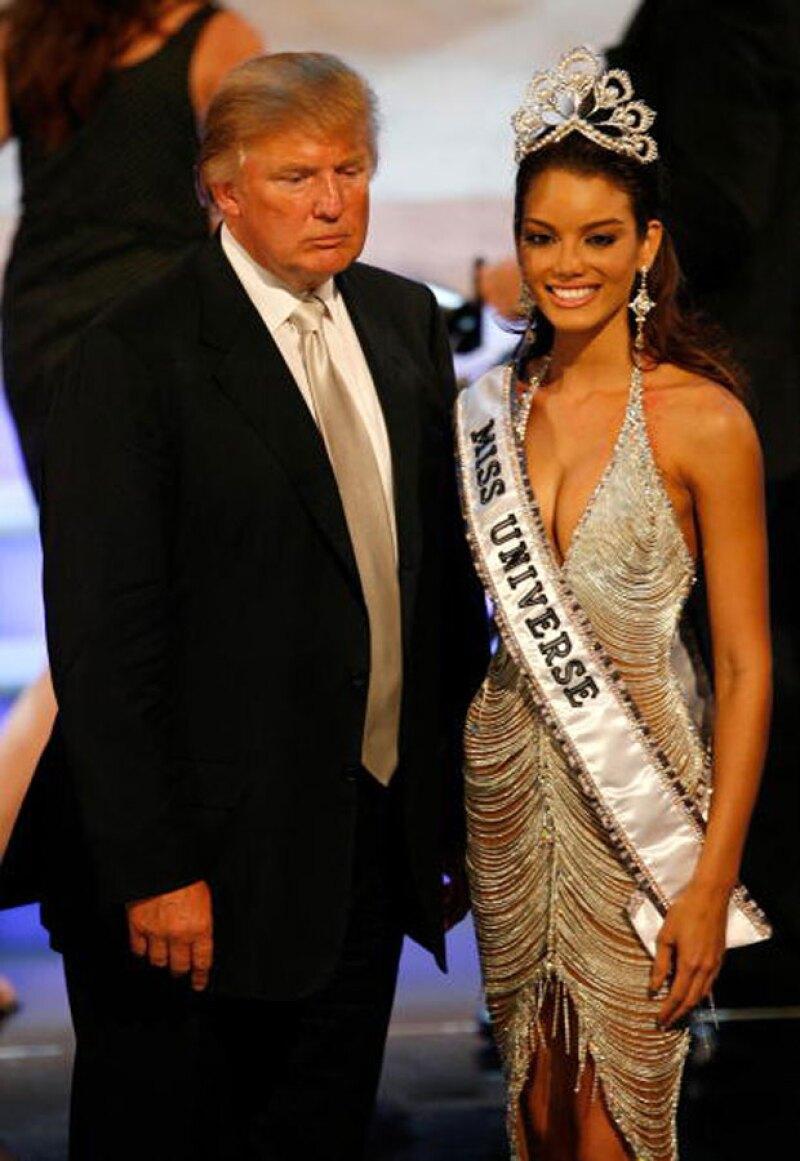 Tras las polémicas declaraciones del empresario, la puertorriqueña, quien ganase el certamen en el 2006, canceló su participación en apoyo a los mexicanos.