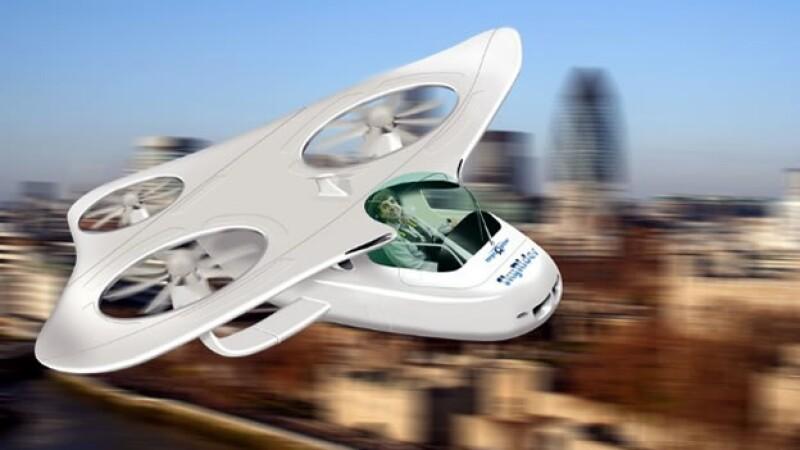 Una auto volador imaginario