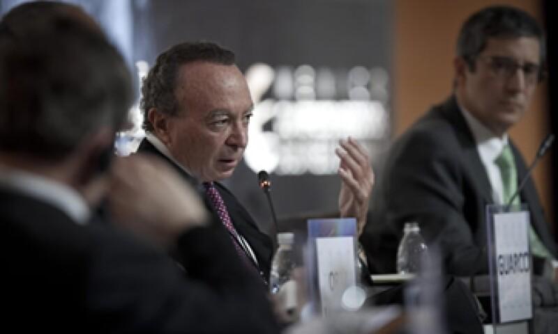 El exgobernador de Banxico, Guillermo Ortiz Martínez, participa en la 10 edición de México Cumbre de Negocios. (Foto: Carlos Aranda/Mondaphoto)
