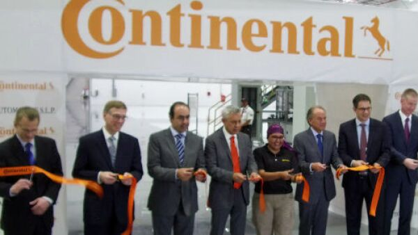 Continental inauguraci�n planta SLP