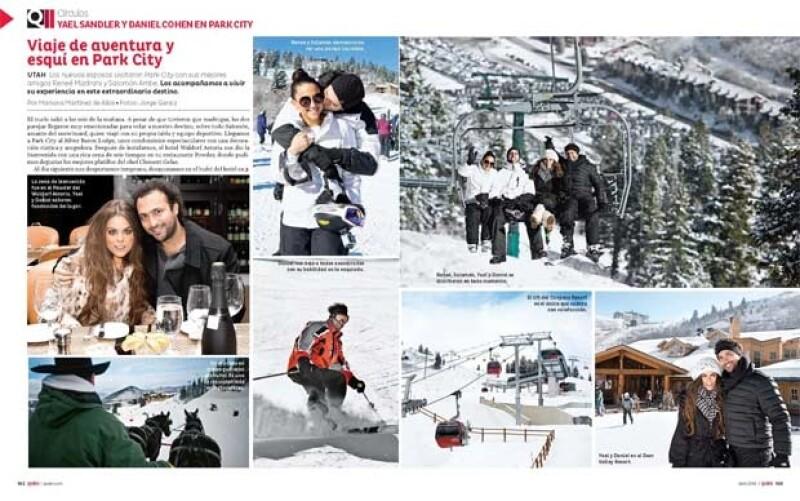 Yael Sandler se fue a esquiar con su esposo y unos amigos.