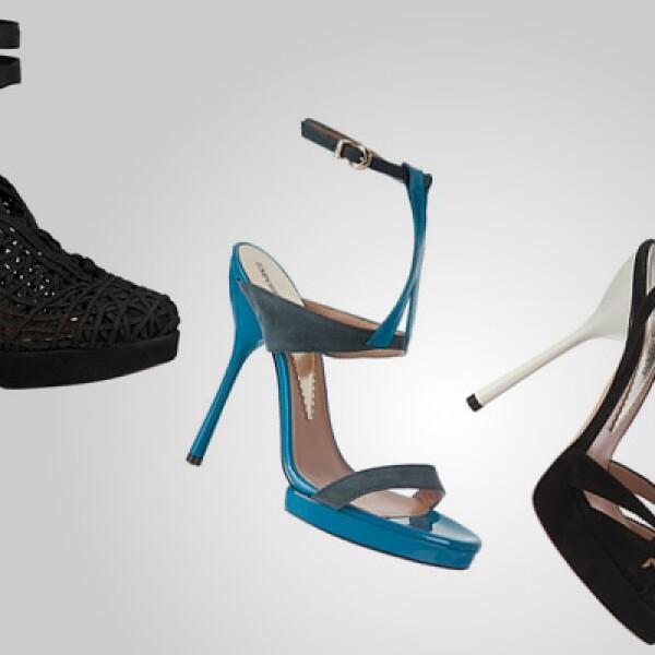 Tres opciones diferentes de calzado para dama. Coordínalos con un vestido de seda para una boda y agrega un toque extra de clase a tu estilo.