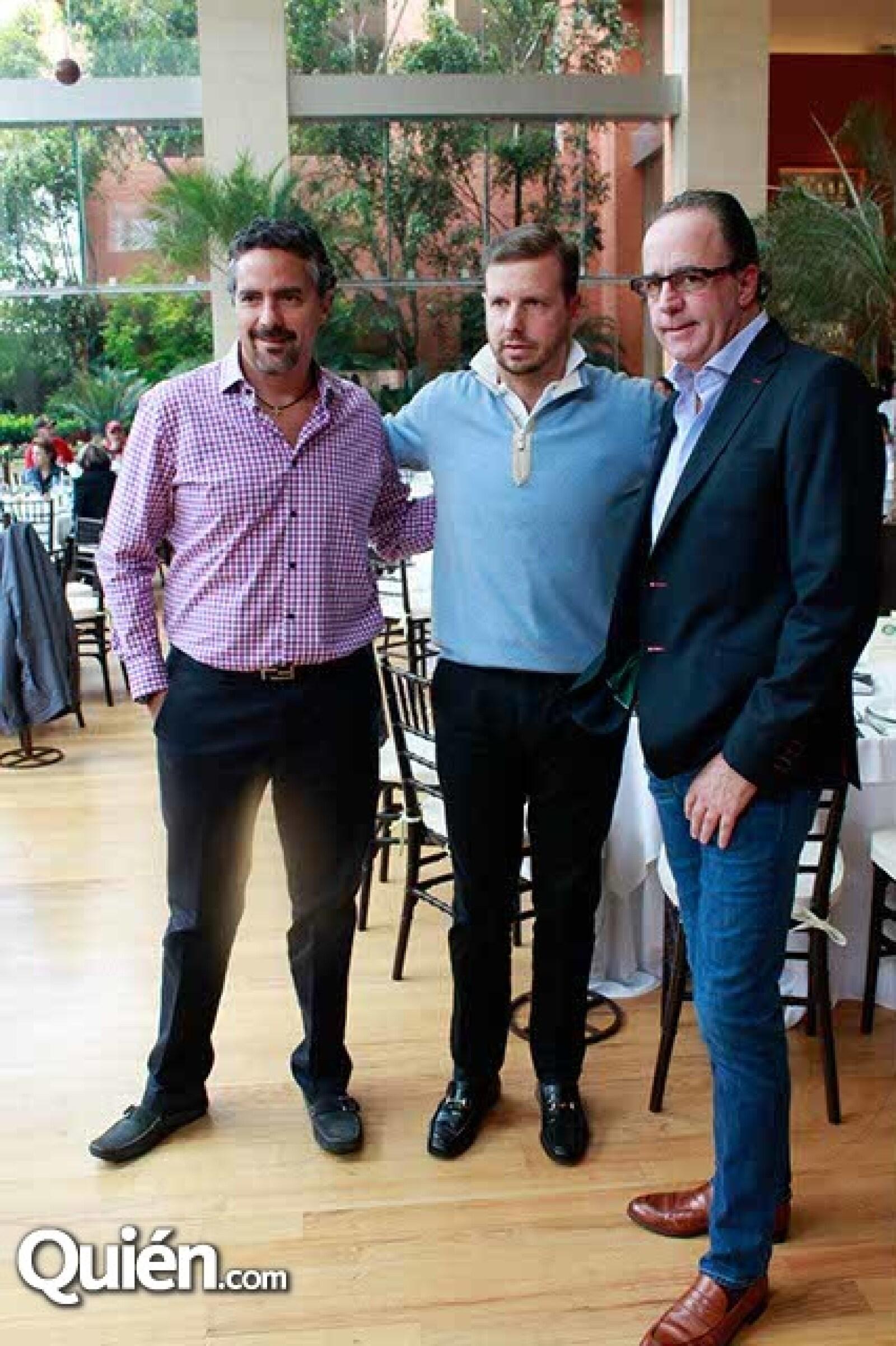Jaime Fernández,Santiago Casanueva y Luis Peyrelongue