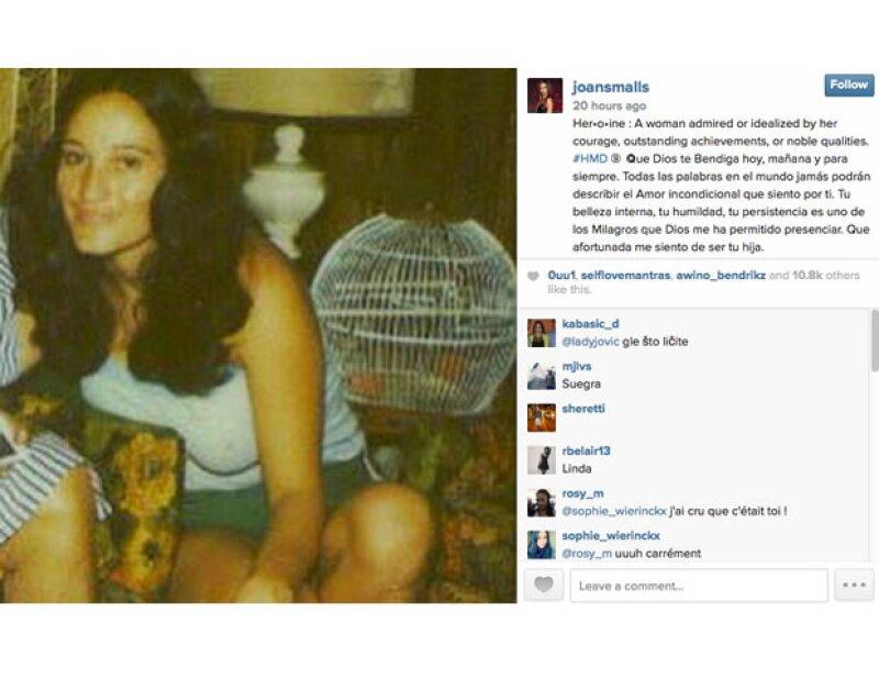 Joan Smalls publicó una foto de cuando su mamá era joven.