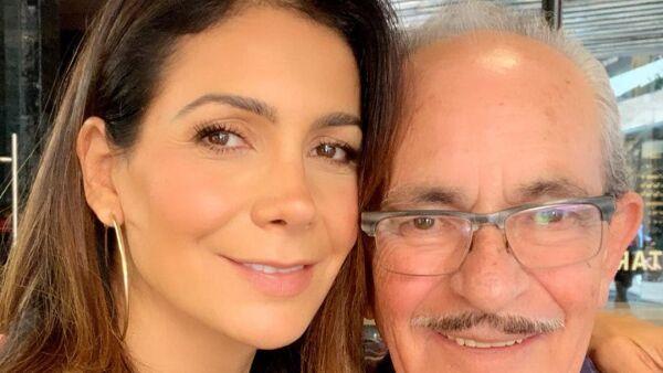 Paty Manterola y su papá