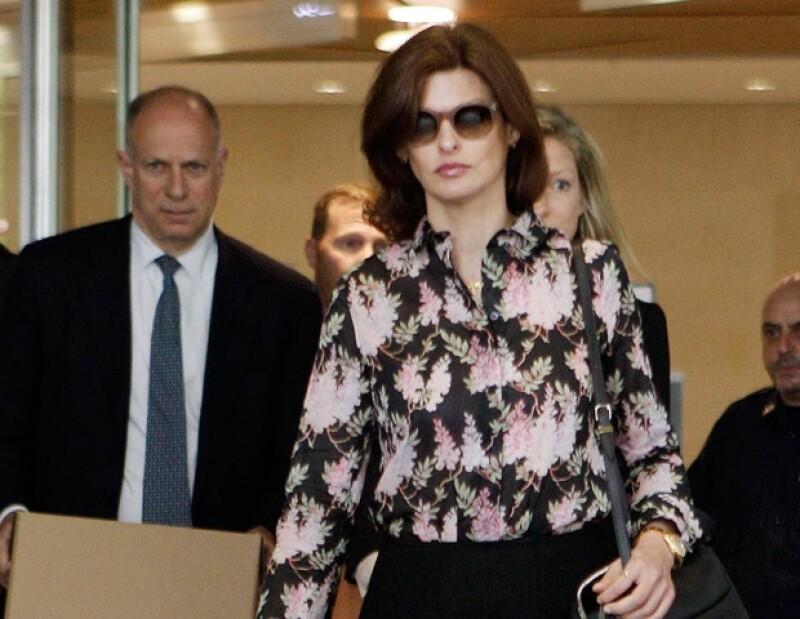 La ex novia de Francois Henri Pinault, Linda Evangelista, entabló una batalla legal millonaria por la manutención del hijo de ambos en Nueva York.