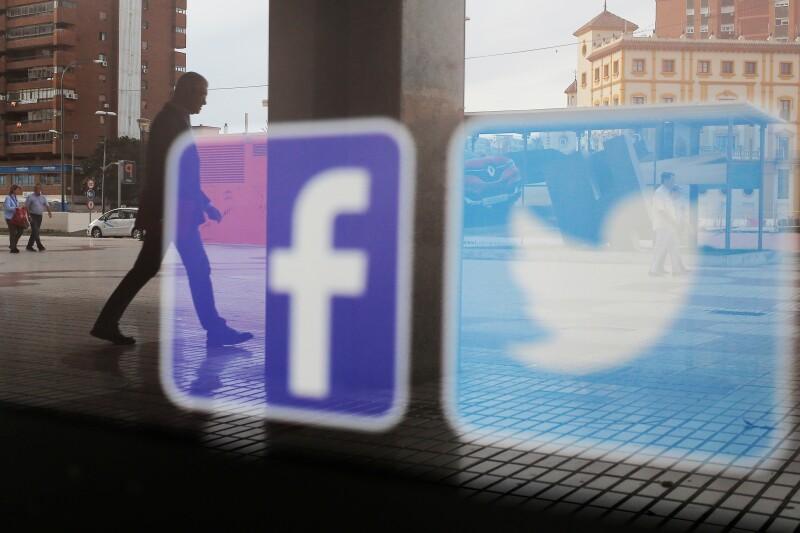 Facebook Twitter Wall Street