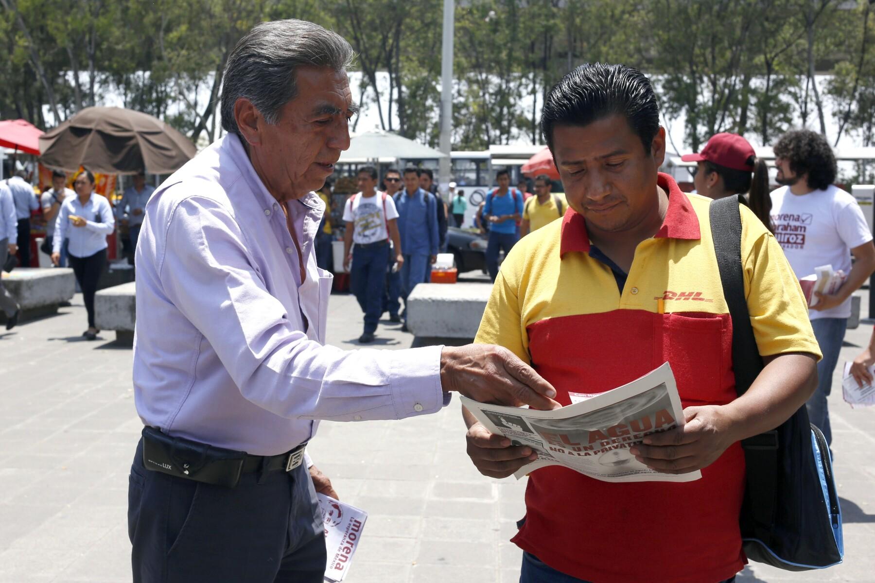 El candidato de Morena a gobernador de Puebla, Abraham Quiroz, resalta que urge atender el desempleo, la corrución y la inseguridad.