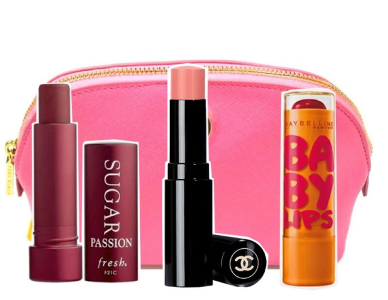Lipbalms con color de Fresh, Chanel y Maybelline.