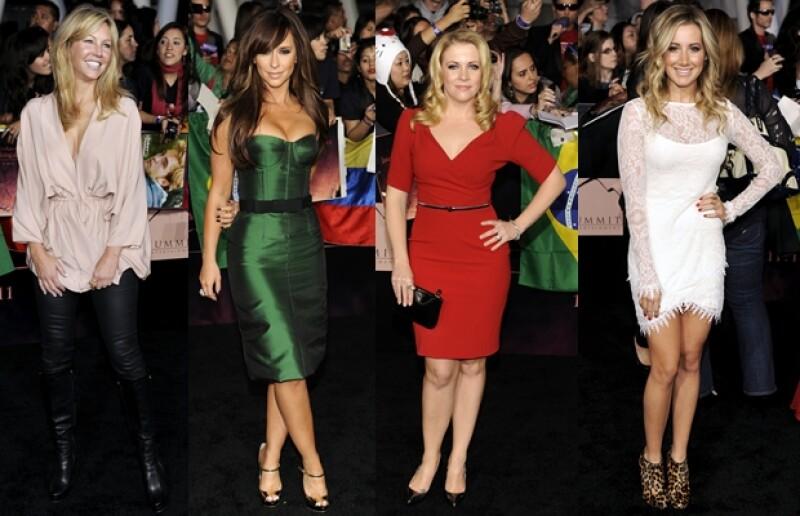 Entre las famosas que acudieron a la premiere estuvieron: Heather Locklear, Jennifer Love Hewitt, Melissa Joan Hart y Ashley Tisdale.