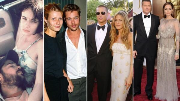 Brad Pitt cuenta entre sus conquistas a hermosas mujeres como Juliette Lewis, Gwyneth Paltrow, Jennifer Aniston y su futura esposa Angelina Jolie.
