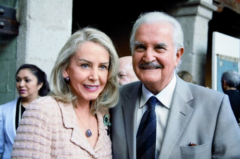 Aquí Silvia y Carlos en el evento en honor a Leonora Carrington en 2009.