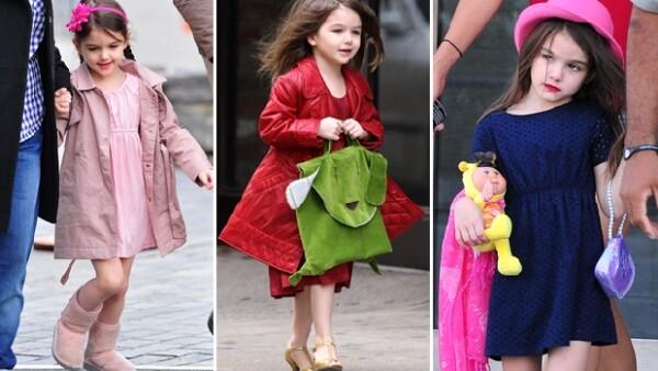 Katie Holmes fue vista comprando algunas piezas de la línea de Diane Von Furstenberg para Gap Kids, pero, ¿dónde quedaron los diseños Armani, Carolina Herrera y Cavalli que acostumbraba Suri?