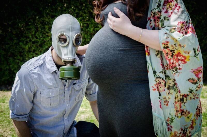 embarazada - contaminación