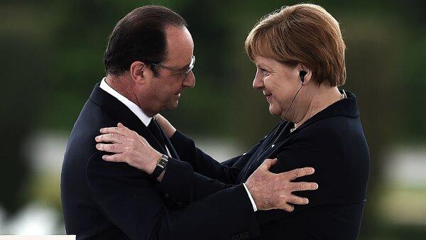 Merkel mantendrá conversaciones este lunes en Berlín con Hollande.