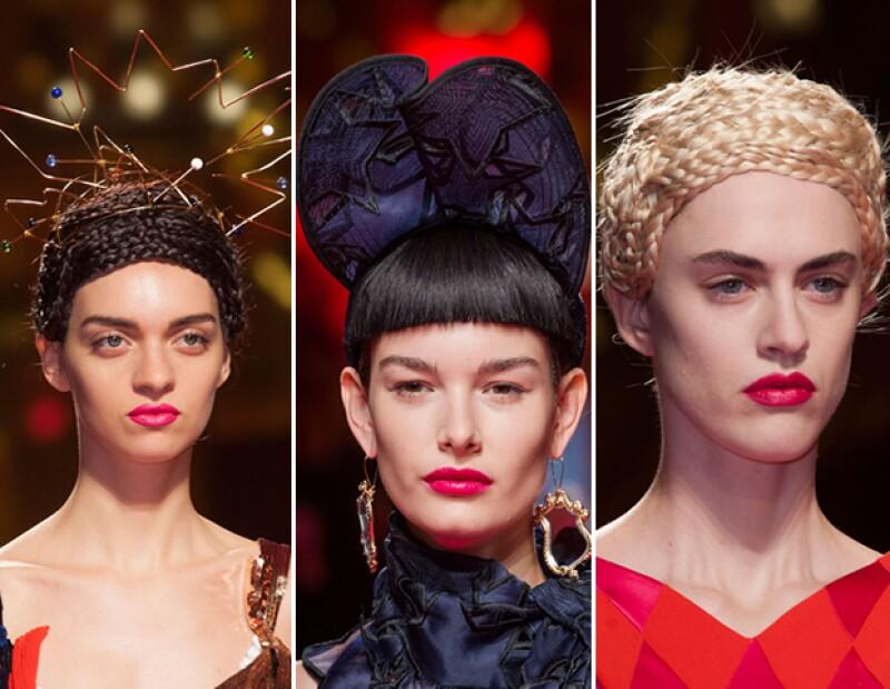 Schiaparelli se lució con creatividad y vanguardia en todos los looks.