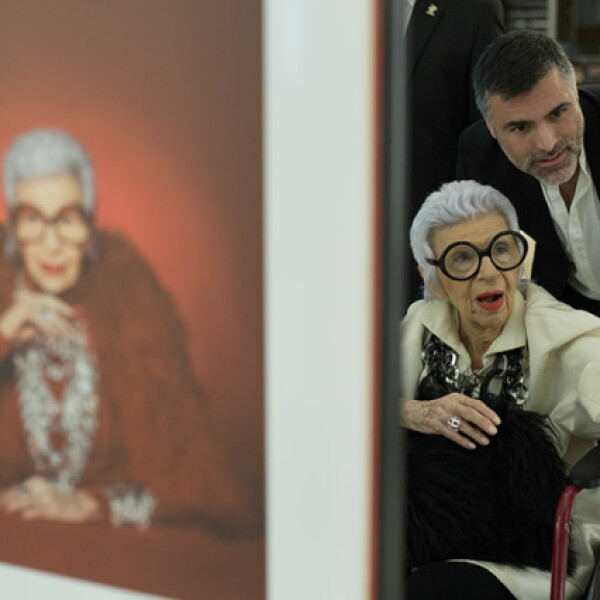 Iris Apfel y Nino Bauti