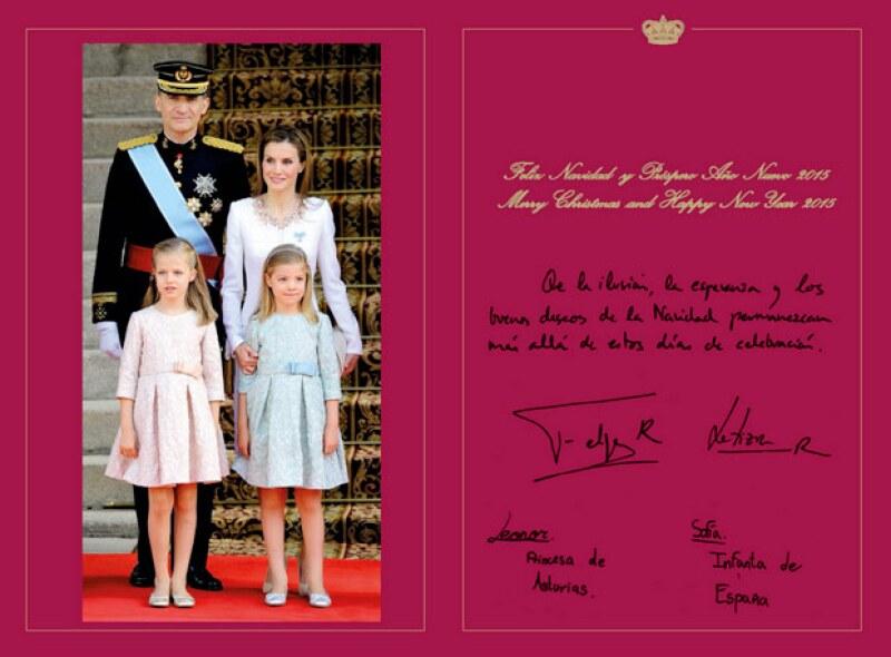 La dedicatoria y firma de los reyes.